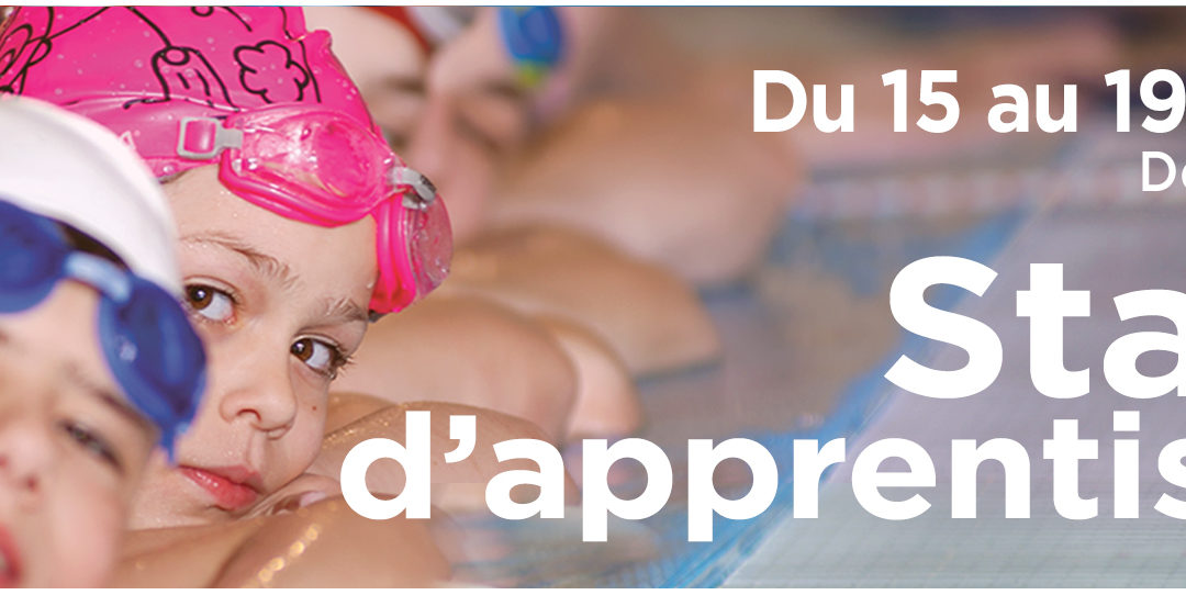 Stages d'apprentissage enfants du 15 au 19 avril 2019